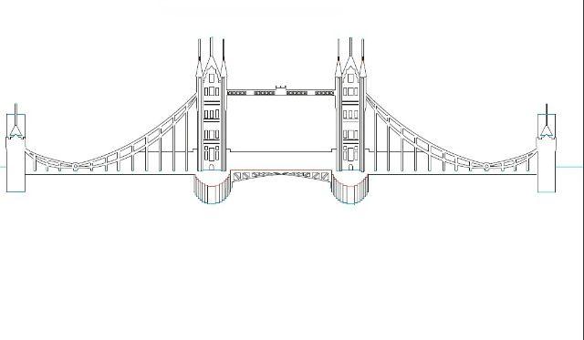 Plantillas kirigami - Puente de Londres