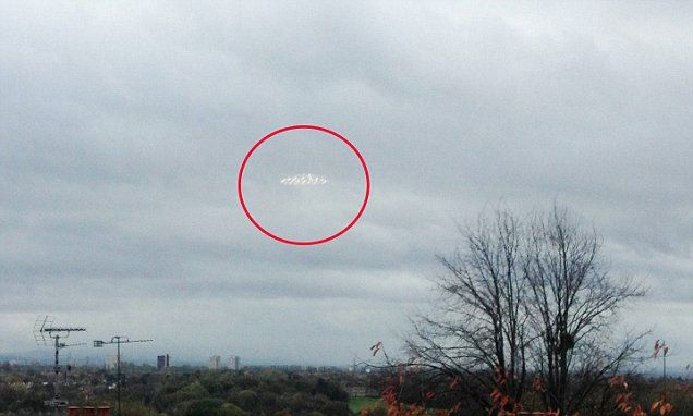 Mystery saucer shaped object spotted in sky over Manchester