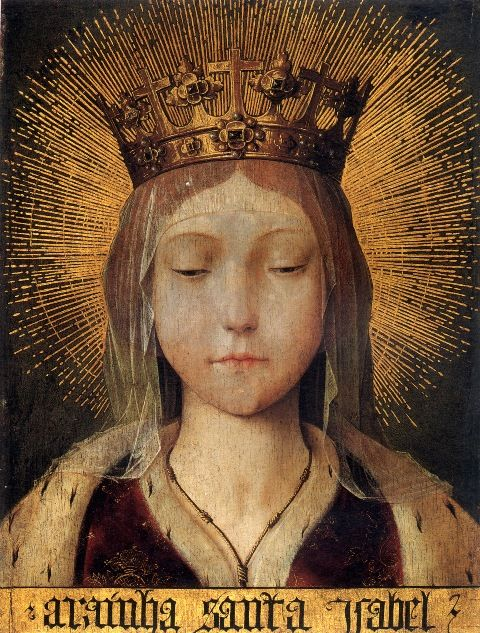 Queen Saint Isabel / circle or follower of Quentin Metsys 1st quarter of the 16th century.