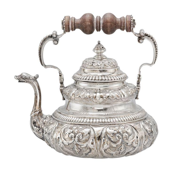 Betteridge Collection Dutch Silver Tea Pot with Dolphin Spout, Circa 1730