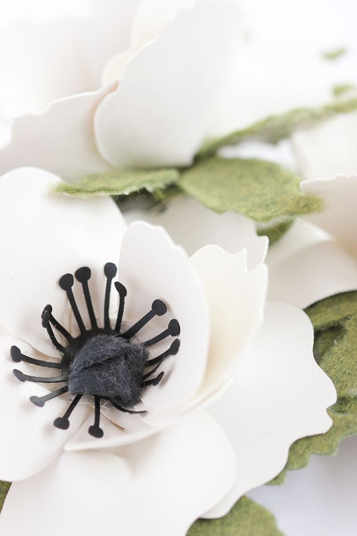 Faux leather + Felt Anemone Tutorial and Cut Files