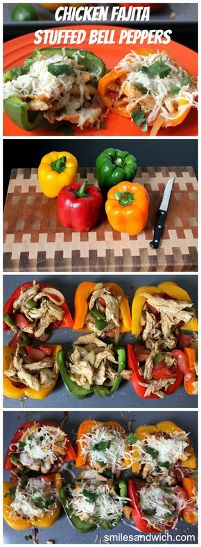 Chicken Fajita Stuffed Bell Peppers - These are SO good, and easy to make!