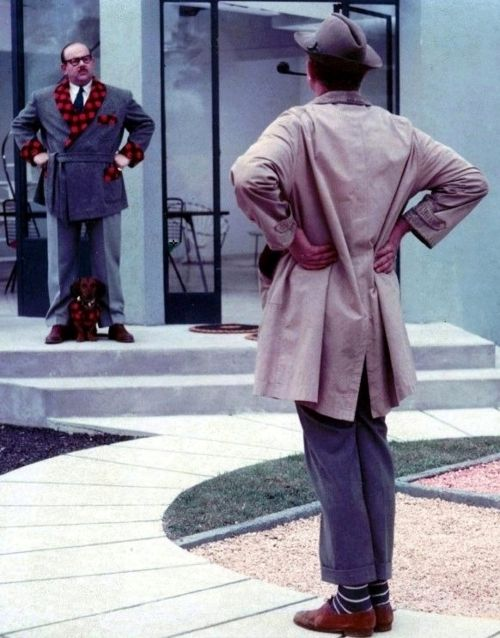 Jacques Tati & Billy Kearns in Mon Oncle (1958, dir. Jacques Tati)