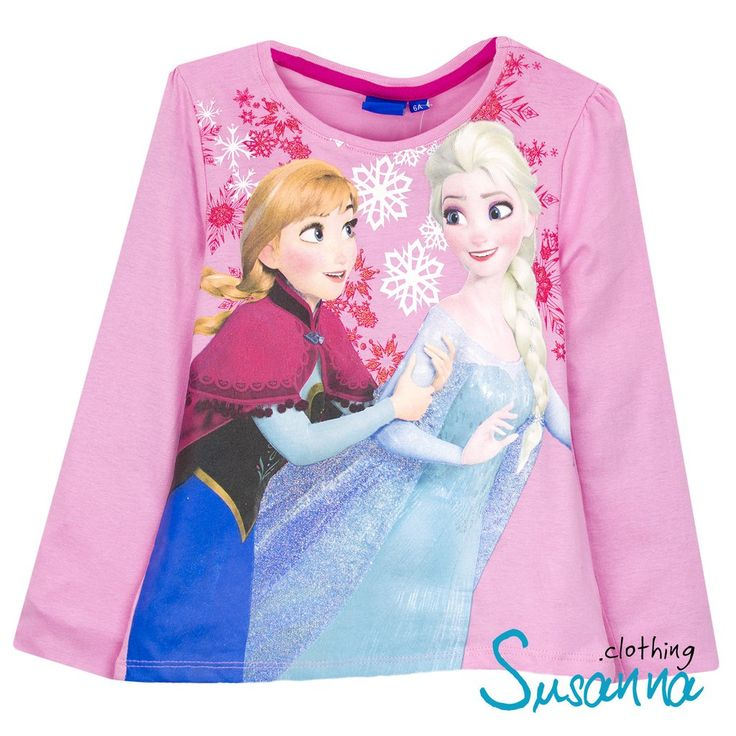 Disney Frozen Girls Long Sleeve Top 3-8 years 2016 Collection - Pink