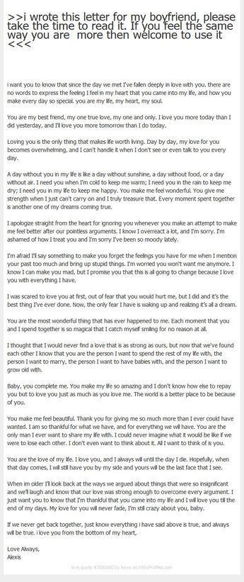 8 Boyfriend Thank You Letter Sles