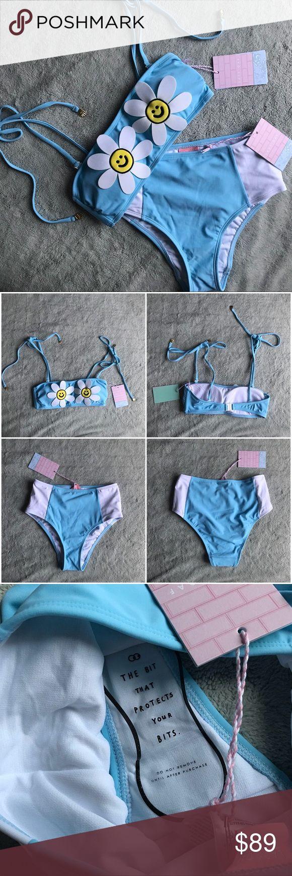 NWT Lazy Oaf Daisy Boob Bikini Floral Swimsuit Set Brand new, never worn. Daisy ... 1