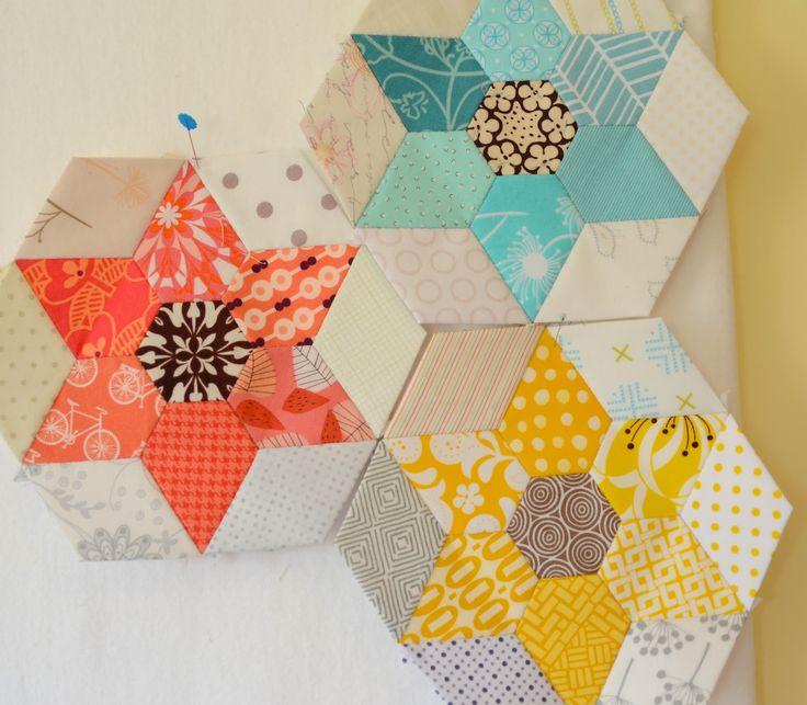 48 best English Paper Piecing images on Pinterest | English paper ... : hexagon star quilt pattern free - Adamdwight.com