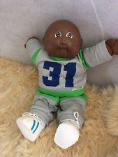 Boy Black Cabbage Patch Doll Baby No Hair Brown Eyes
