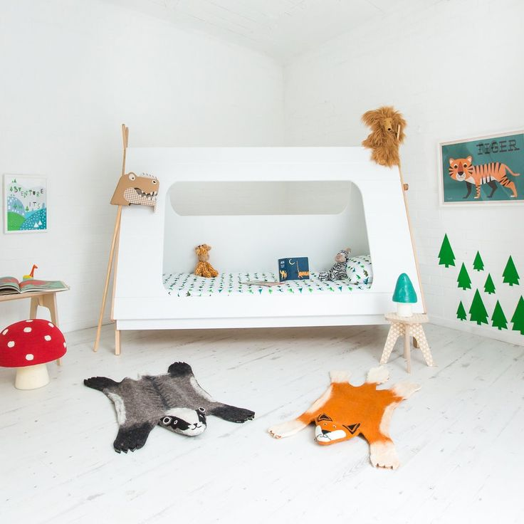 Fabulous children's teepee tent bed, available at @bobbyrabbitkids