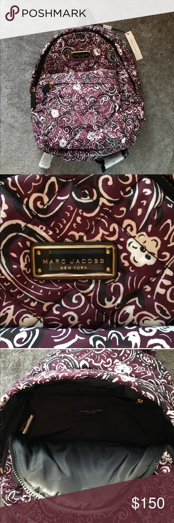 """Marc Jacobs NWT Backpack • Marc Jacobs New York • New With Tags • Originally $350 • Includes Authentication Card • Color is """"Aubergine Multi"""" • Has Adjustable Straps • 100% Polyester (Easy to Clean 😉) • Approx. 16""""H x 13""""W x 7""""D Marc Jacobs Bags Backpacks"""