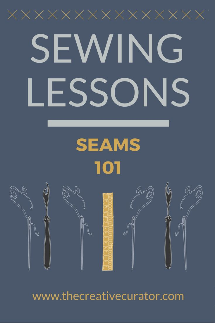 Sewing for Beginners - Seams. Get the low down on the website now!
