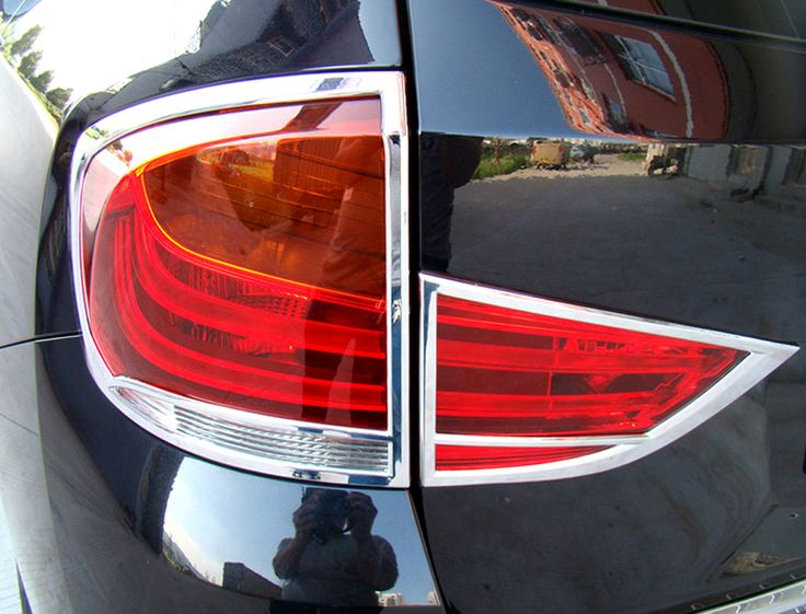 Car Styling!2pcs ABS Chromed Rear Tail Light Lamp Cover