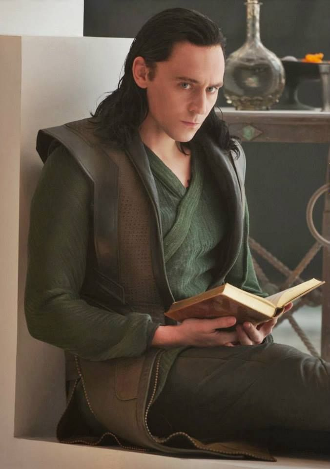 Loki just, you know, catching up on his reading.