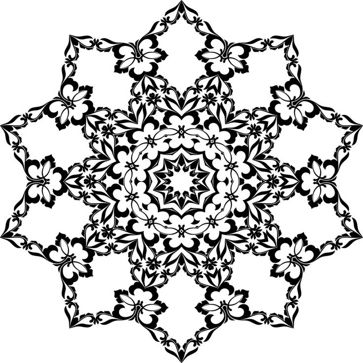 7 best color it images on pinterest - Mandala Snowflakes Coloring Pages