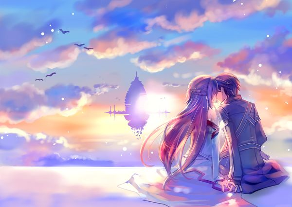 Anime Couples In The Sunset   www.pixshark.com - Images ...