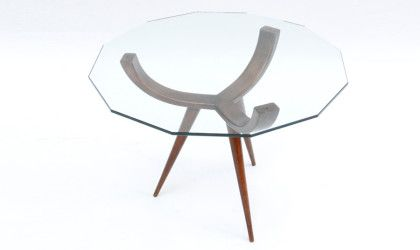 A coffee table, wood and glass, 1950 - Uso Interno