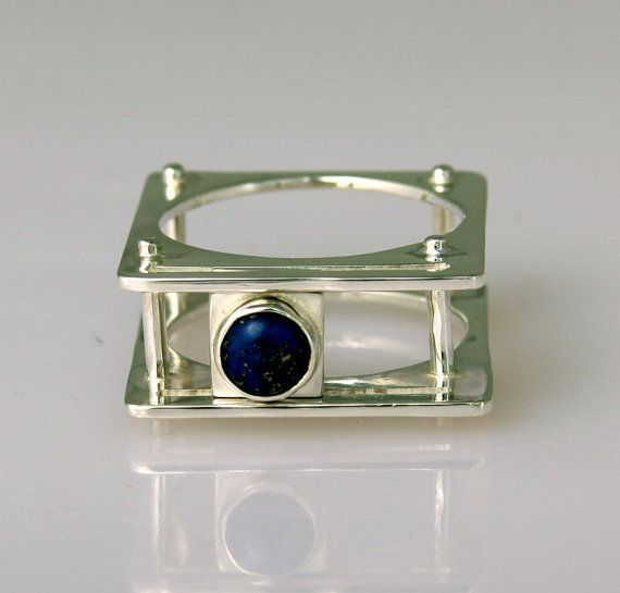 Sapphire Ring with Sliding Stone