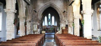 Interior of the Parish Church of Sutterton in Lincolnshire. Did you know that the family of Thomas Cranmer, Archbishop of Canterbury, originate from this Lincolnshire parish?