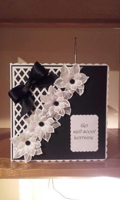 Birthday card with Honey Doo flowers