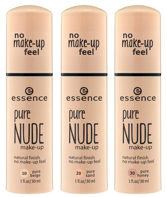 Essence Sneak Peek!:  Try It Love It Fall 2015 Collection Pure Nude Makeup Foundation. Essence is one of my favorite cruelty free brands at the drugstore!