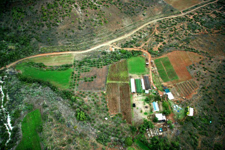 An aerial view of the beloved farm Laharna