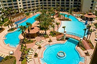 Shores of Panama, Panama City Beach, FL.  A fabulous place to stay.  It is like a Mexican resort in Florida.