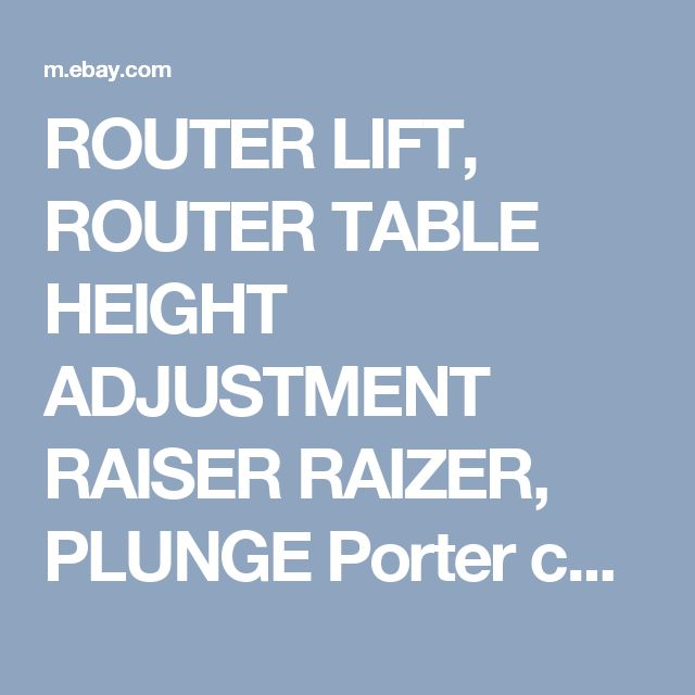 The 25 best porter cable router ideas on pinterest porter cable router lift router table height adjustment raiser raizer plunge porter cable keyboard keysfo Gallery