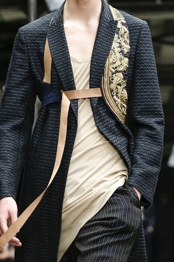 Dries Van Noten Menswear Spring Summer 2015 Paris. Another view of that Embroidered Holster-like vest