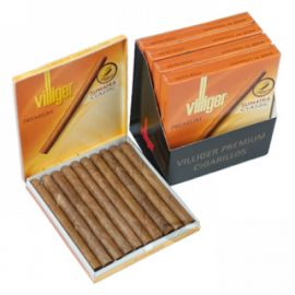 Villiger Premium Sumatra Classic Cigarillos:  A balanced aromatic blend of 12 provincial tobaccos within a natural wrapper.