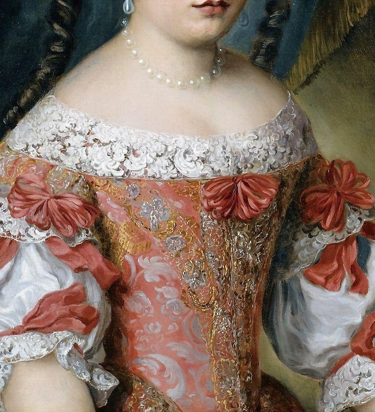 Jacob Ferdinand Voet - Anna Maria Carpegna Naro, 1670. Detalle.