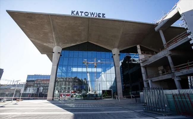 Katowice central station after