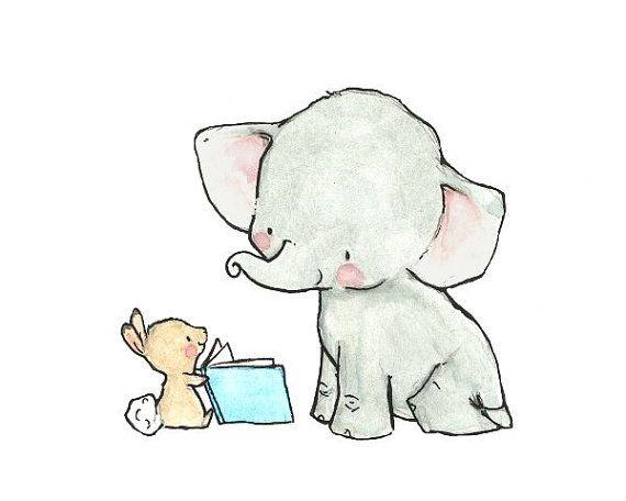 Baby Art  STORYBOOK  Archival Print by trafalgarssquare on Etsy