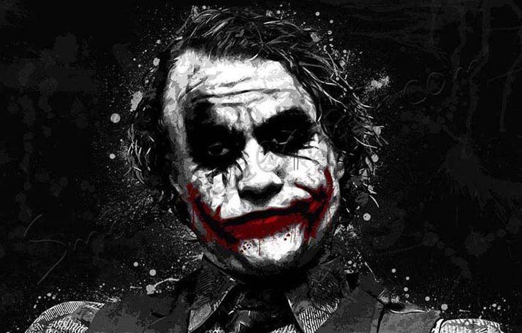 Joker Canvas Art, Batman Movie Canvas, Heath Ledger Canvas ...