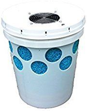 This 5 gallon plastic bucket air conditioner DIY project is made with a five gallon bucket, Styrofoam liner, pvc pipe, small fan and ice. You can freeze a