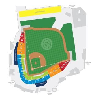 See a seating chart for Sloan Park (Cubs Park), the newest Spring Training stadium in Arizona. It began hosting Chicago Cubs games in the 2014 season.