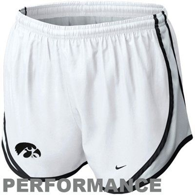 Nike Iowa Hawkeyes Womens Tempo Performance Shorts - White