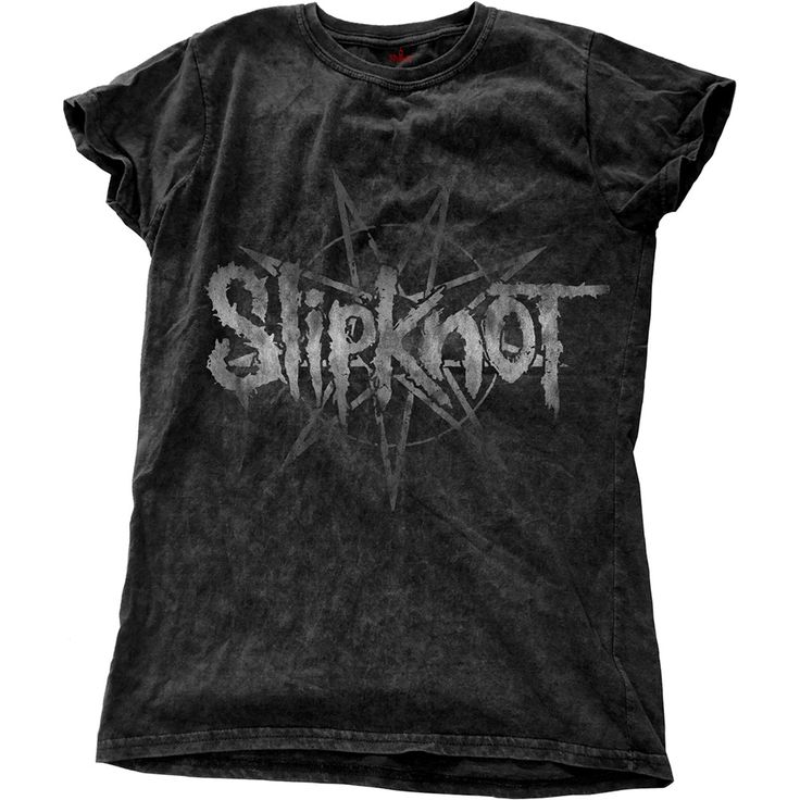 Slipknot Ladies Fashion Tee: Logo Star Wholesale Ref:SKSWASH01LB