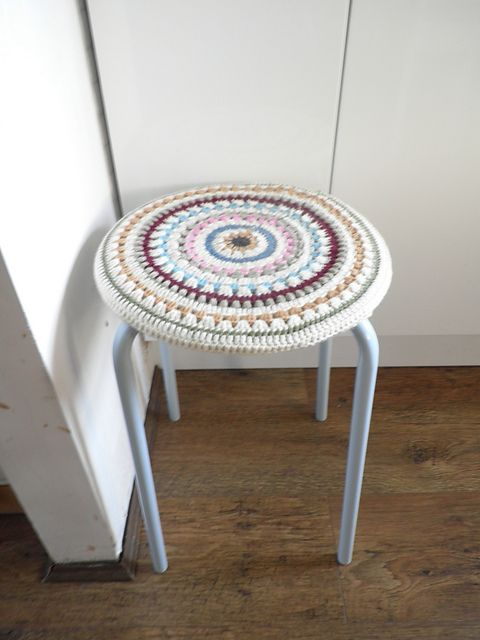 Best 25 Stool Cover Crochet Ideas On Pinterest Stool