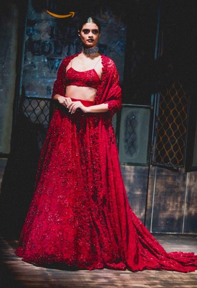 #sabyasachi #lehenga #red