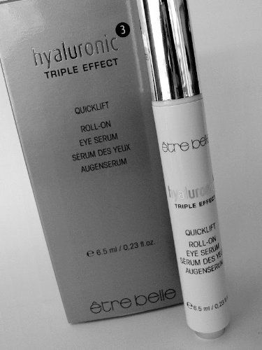 Hyaluronic Triple Effect Quicklift Roll-On Eye Serum by Etre Belle by Etre Belle. $39.00. Easy to use and effective .. Ideal for refreshing the tired eye area. Hyaluronic Triple Effect Quicklift Roll-On Eye Serum. .23oz. Specially targeted at lightening Dark Cycles. Hyaluronic Triple Effect Quicklift Roll-On Eye Serum. The modern peptide EyeserylTM is specially targeted at lightening Dark Cycles,  and reducing the puffiness of bags under the eyes. The roll-on a...