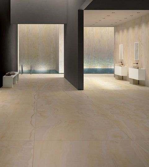 Gold Onyx extra large format porcelain tiles by Graniti Fiandre available in TileStyle