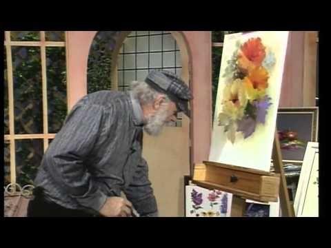 La bellezza di dipingere fiori ad olio di Gary jenkins - YouTube