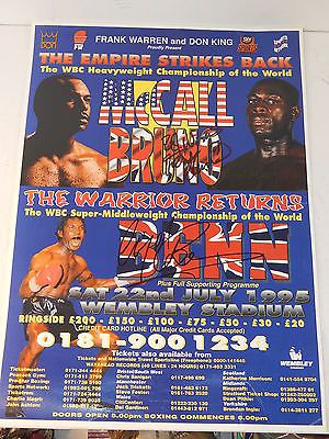 Rare hand #signed frank bruno & #nigel benn boxing poster for bruno v #mccall fig,  View more on the LINK: http://www.zeppy.io/product/gb/2/222001654232/