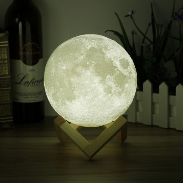 7 87 Usb Rechargeable 3d Printing Moon Luna Led Night Light Touch Sensor Night Light Lamp Led Night Light Moon Light Lamp