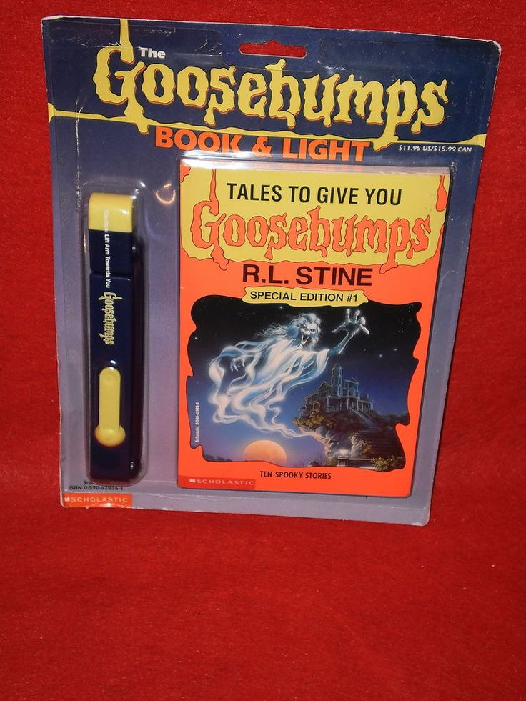 RL Stine The GOOSEBUMPS BOOK & LIGHT Set Tales To Give You ...