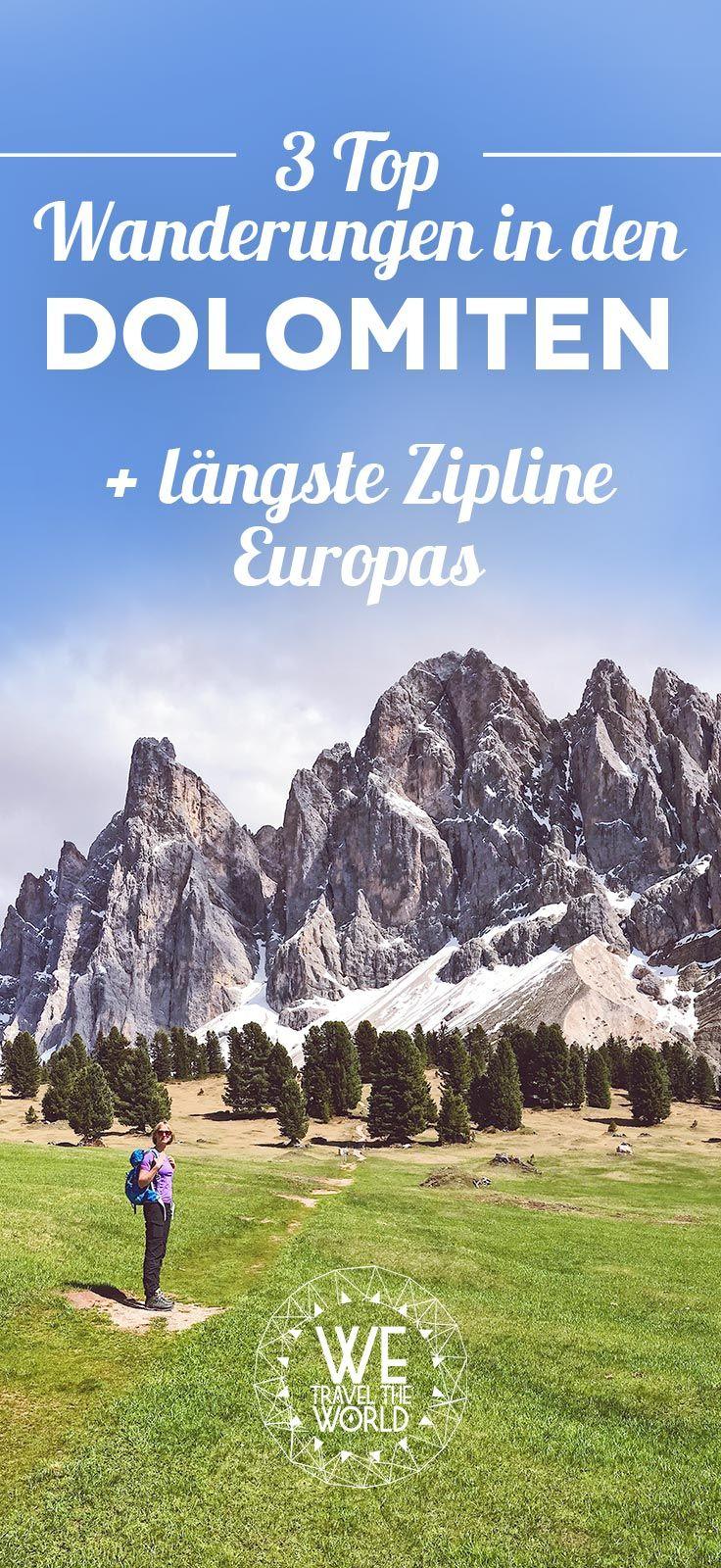 Unsere 3 Top Wanderungen rund um die Geislerspitzen in den Dolomiten, Südtirol + Xtreme Ziplining!
