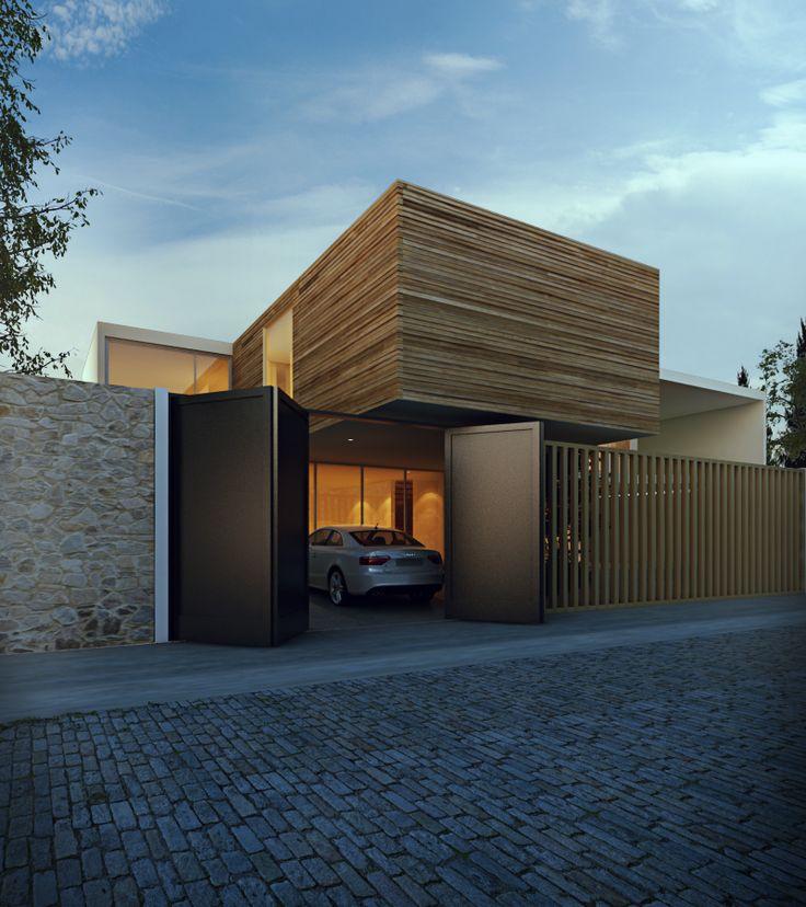 - textures, contrast, lines, clean, gate/garage doors SLP House