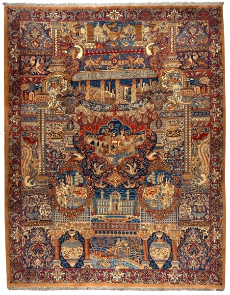 """Older Kashmar carpets could mainly be found in coarser qualities and in the """"Herati Design"""" (stylised fish theme), which it acquired from the carpets …"""