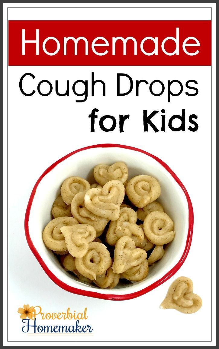 Homemade Cough Drops for Kids - You'll love this easy and natural recipe for helping sooth cough and sore throat while giving a boost to the immune system!  http://www.proverbialhomemaker.com/homemade-cough-drops-kids.html