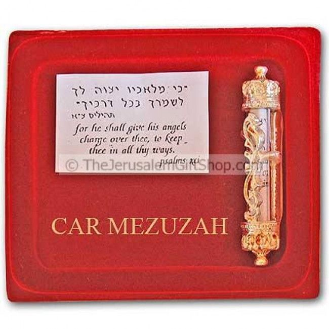 Car Mezuzah Jerusalem - Pslam 91 Blessing - Holy Land Christian Gifts $12.95